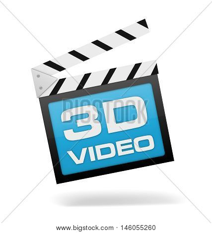 3d video 3d illustration isolated on white background