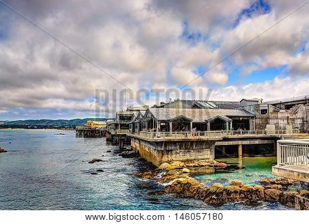 Monterey bay aquarium building - California shots - june