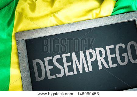 Unemployment written in portuguese