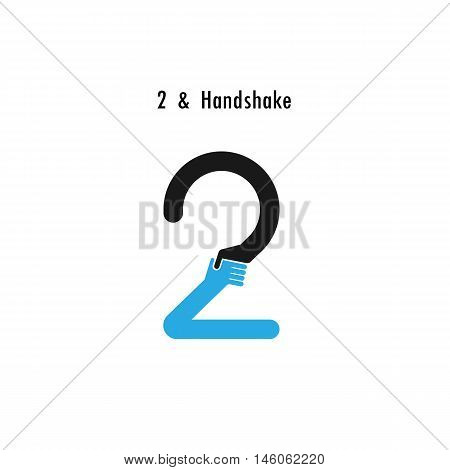 Creative 2- number icon abstract logo design vector template.Business offerpartnership icon.Corporate business and industrial logotype symbol.Vector illustration