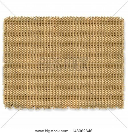 Vector Sackcloth Frame isolated on white background