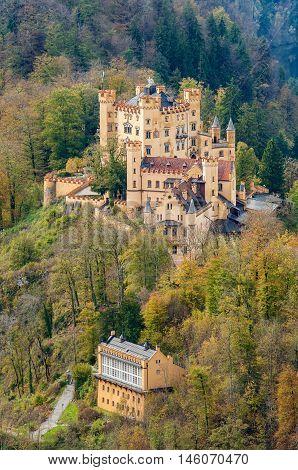 The Castle Of Hohenschwangau In Bavaria, Germany
