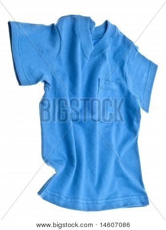 Blue Tee Shirt With Pocket