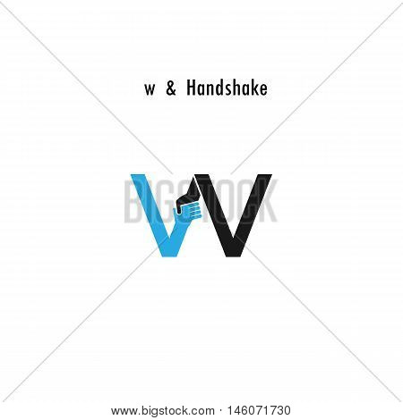 Creative W- letter icon abstract logo design vector template.Business offerpartnership icon.Corporate business and industrial logotype symbol.Vector illustration