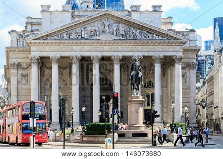 Royal Exchange In London, Uk