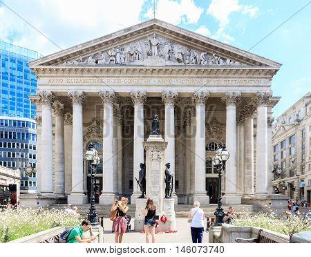 Royal Exchange In London, Uk