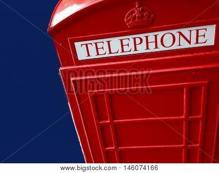 Abstract Creative British Red Telephone Box London England
