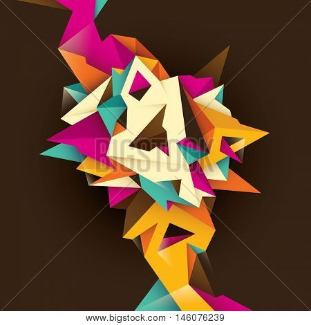 Geometric background with abstract design. Vector illustration.