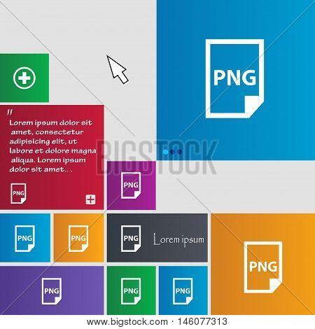 Png Icon Sign. Buttons. Modern Interface Website Buttons With Cursor Pointer. Vector