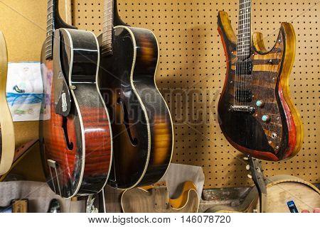 Carmine Street Guitars Store In New York
