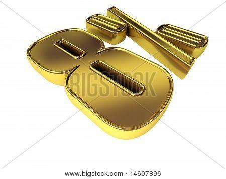 Gold 8 Percent