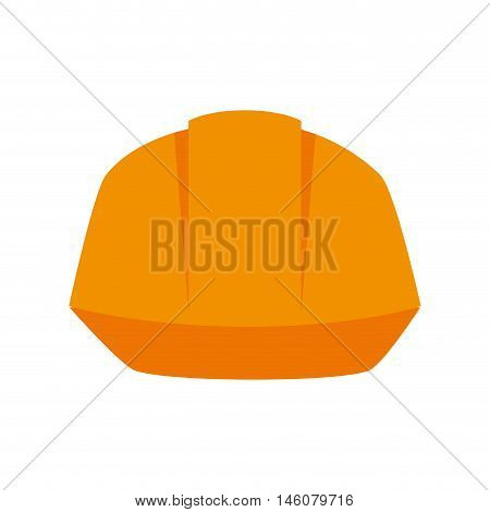yellow helmet security industrial protection equipment vector illustration