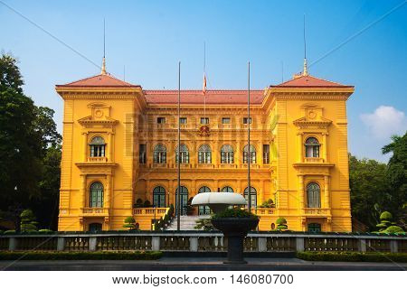 Building, Vietnam President Office, Central Ha Noi, , By French Architect Construction