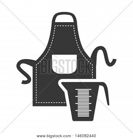 Apron and jar icon. Bakery food and shop theme. Isolated design. Vector illustration