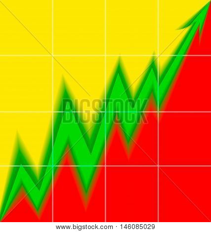 Up Arrow stylized Lithuanian flag blur mesh economy progress