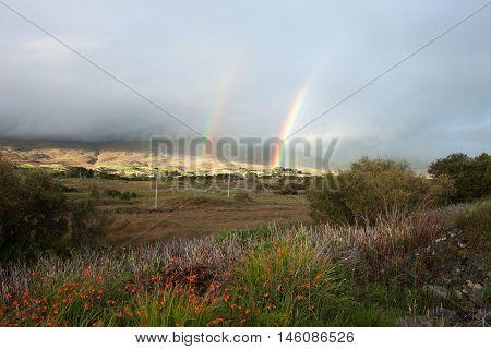 A double rainbow in Connemara, Co. Galway, Ireland.