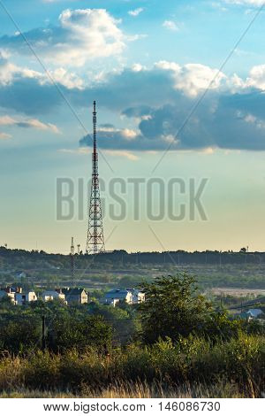 Tv Tower Is In The Country Under The Clouds