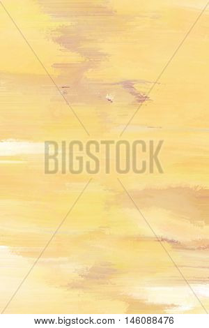 Abstract painted background with yellow, white and purple