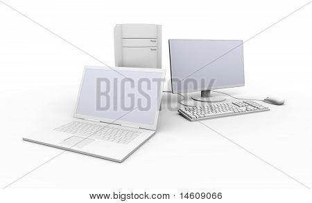 Laptop And Desktop Pc.