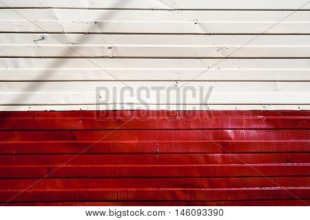 Red and white zinc texture metall wall