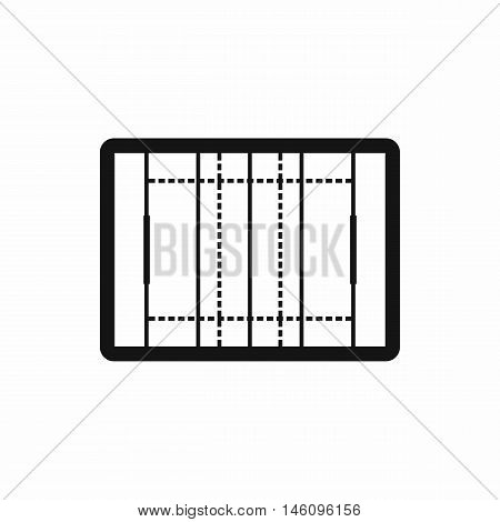 Rugby field icon in simple style on a white background vector illustration