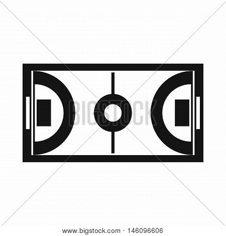 Futsal or indoor soccer field icon in simple style on a white background vector illustration