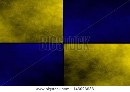 Black background with dark blue and yellow rectangles