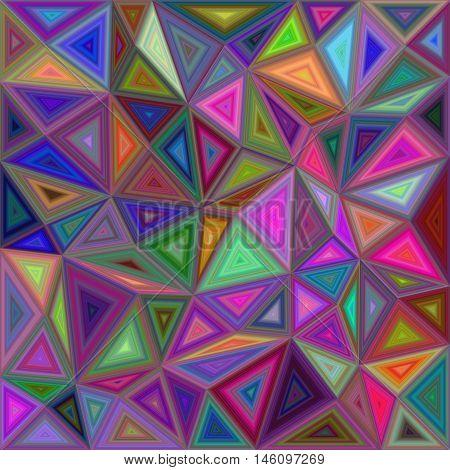 Multicolored irregular triangle mosaic vector background design