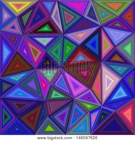Multicolor irregular triangle mosaic vector background design