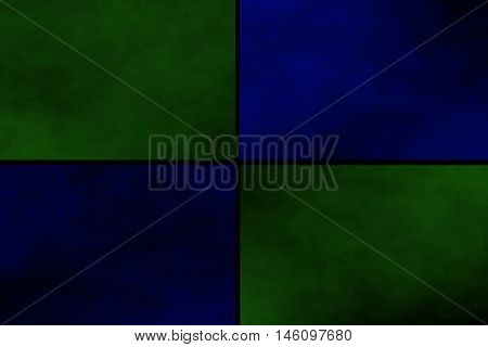 Black background with dark green and dark blue rectangles