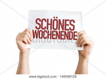 Nice Weekend (in German)