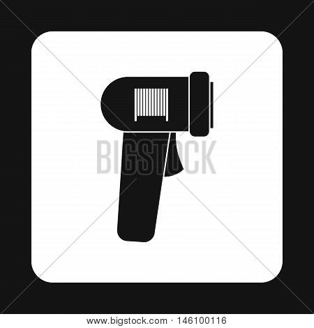 Barcode scanner icon in simple style on a white background vector illustration