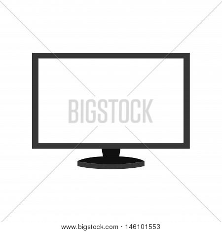 monitor pc computer screen device technology computer vector illustration isolated