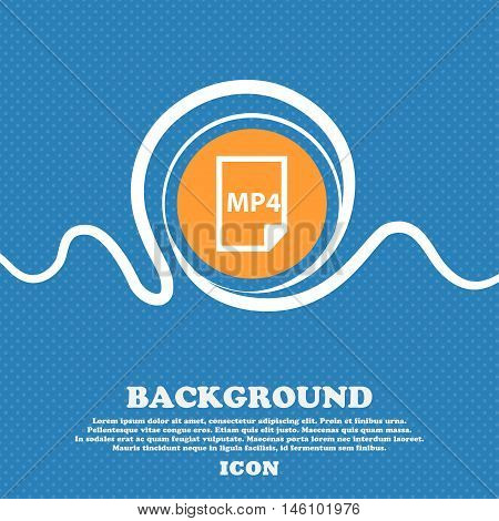 Mp4 Icon Sign. Blue And White Abstract Background Flecked With Space For Text And Your Design. Vecto