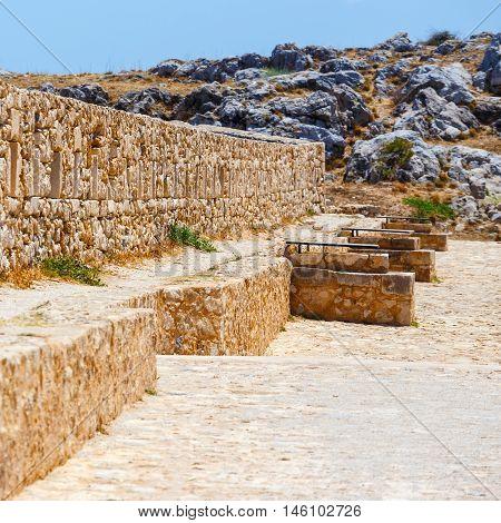 Venetian fortress Fortezza in Rethymno Crete Greece