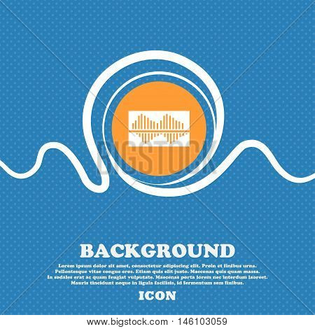 Equalizer Icon Sign. Blue And White Abstract Background Flecked With Space For Text And Your Design.