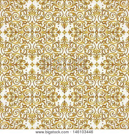Vector Seamless Pattern Victorian Style.