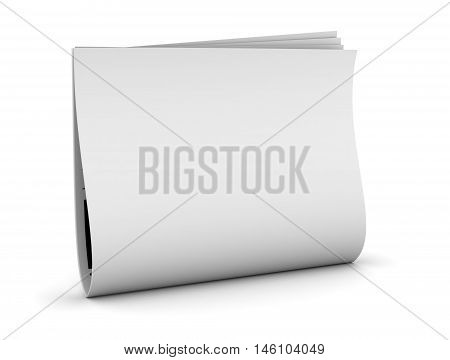 newspaper 3d illustration isolated on white background