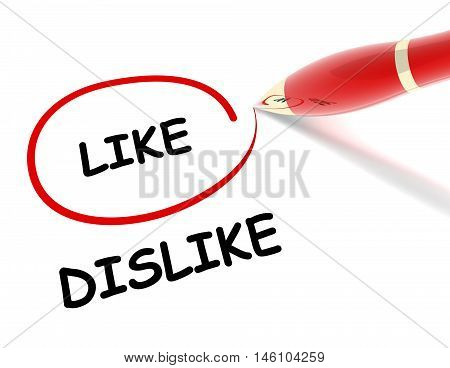 like dislike 3d illustration isolated on white background