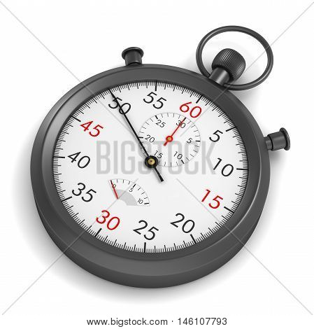 stopwatch 3d illustration isolated on white background