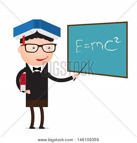 Character - teacher, education concept. Vector illustration flat style