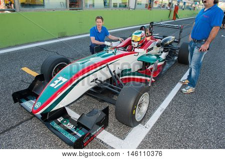 Vallelunga, Rome, Italy. September 4Th 2016. F2 Italian Trophy Race One