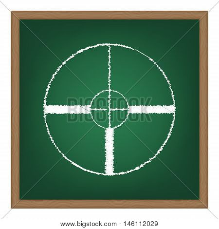 Sight Sign Illustration. White Chalk Effect On Green School Board.