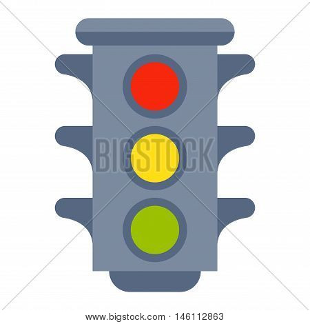 Traffic lights isolated on white background and cartoon traffic light isolated. Safety stop traffic light isolated and traffic light isolated warning transportation danger urban signal.