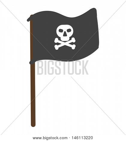 Pirate flag vector illustration isolated