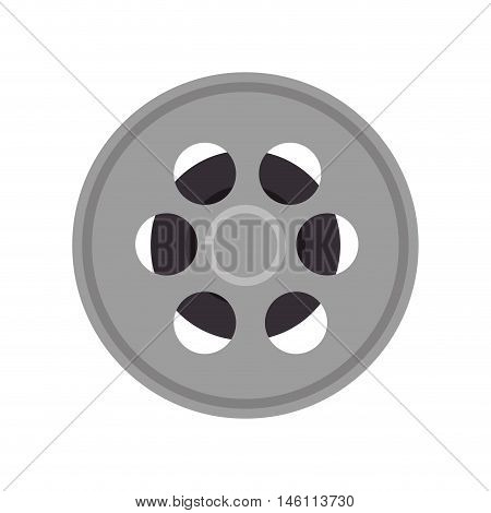 movie video film reel tape. retro cinema object. vector illustration
