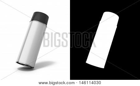 Bottle Spray Paint Or Automotive Grease White 3D Render On White Background With An Alpha Channel