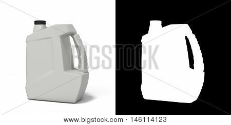 Plastic Canister For Motor Oil 3D Render Isolated On White Background With An Alpha Channel