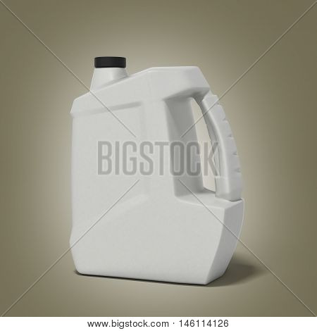 Plastic Canister For Motor Oil 3D Render On Gradient Background