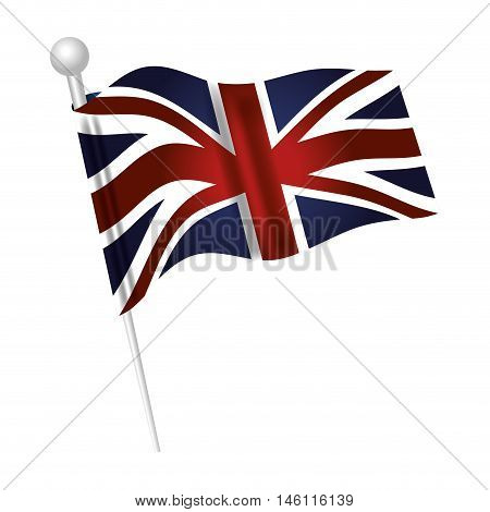 london city flag waving patriotic british symbol. vector illustration